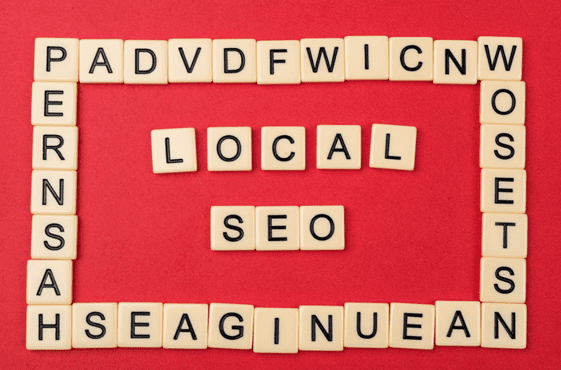 Local SEO tiles on a map